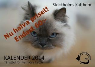 Kattkalender 2014 Framsidan - hemsidan